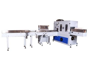 China Hand Towel Tissue Paper Packing Machine , Napkin Packing Machine With PLC HMI supplier