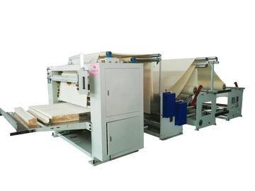 China 7 Line Kitchen Towel Tissue Paper Folding Machine V - Fold Type PLC Control supplier