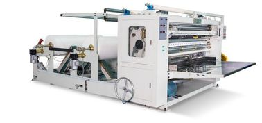 China 10 Line V - Fold Tissue Paper Machine For Cotton Soft Fabric Embossing And Folding factory