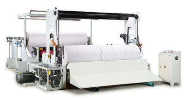 China PLC / HMI / Inverter Controlled Jumbo Reel Paper Slitting And Rewinding Machine distributor