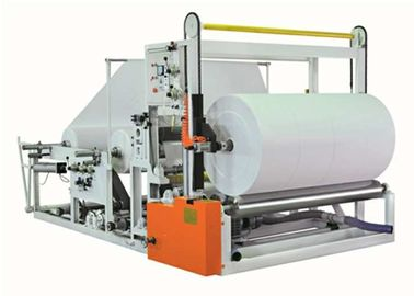 China Two Paper Unwinders Jumbo Reel Paper Rewinder Machine For Making Paper Rolls factory
