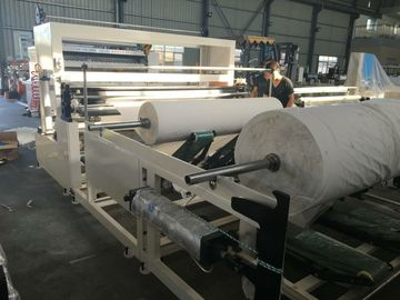 China Napkin Paper Roll Rewinding Machine With Slitting Action Powerful Feature factory