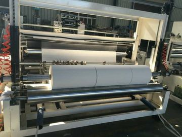 China Towel Paper Rewinder Machine For Roll Slitting And Rewinding Air Inflating Shaft distributor