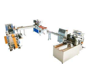 China Pocket Tissue Paper Production Line For Mini / Standard Napkin Bundling Packing factory