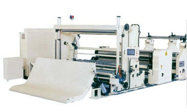 China High Capacity Tissue Paper Cutting And Rewinding Machine PLC / Inverter Control factory